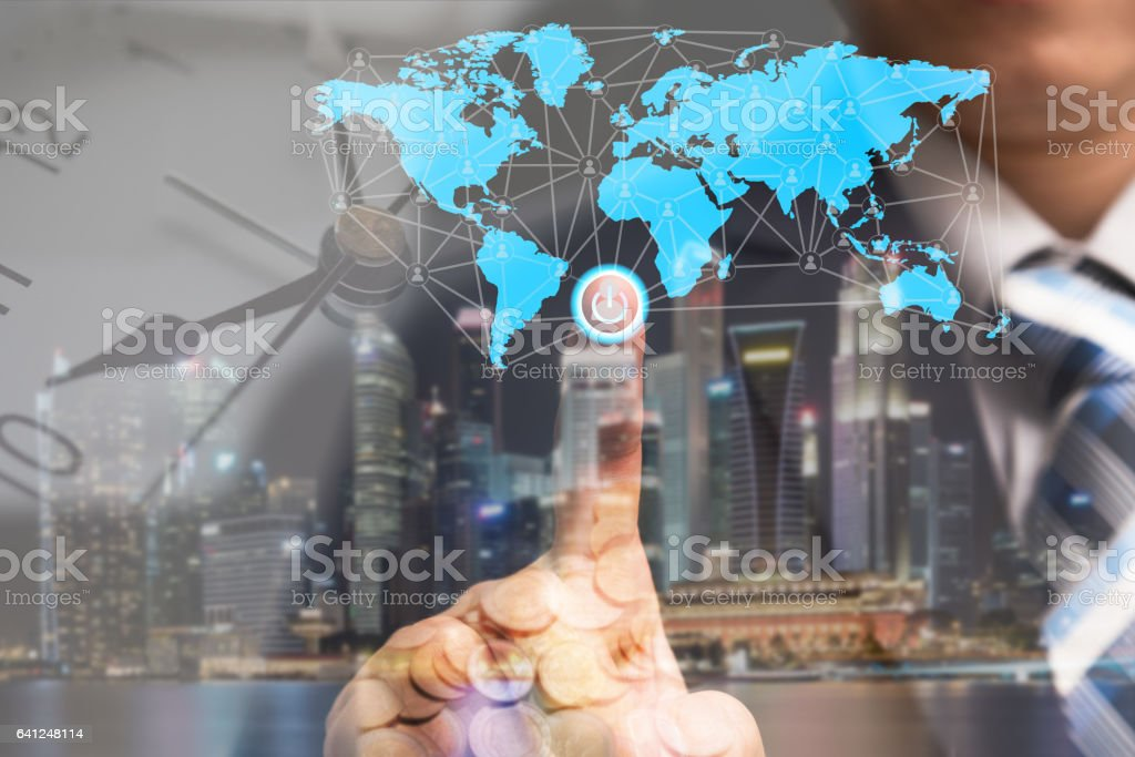 Global business concept and finance conceptual stock photo