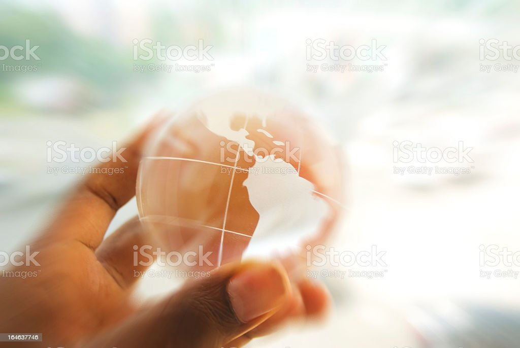 global business concept with blurred motion stock photo