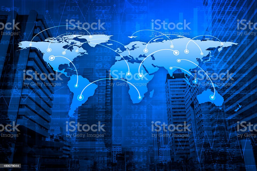 Global business connection, Elements of this image furnished by NASA stock photo