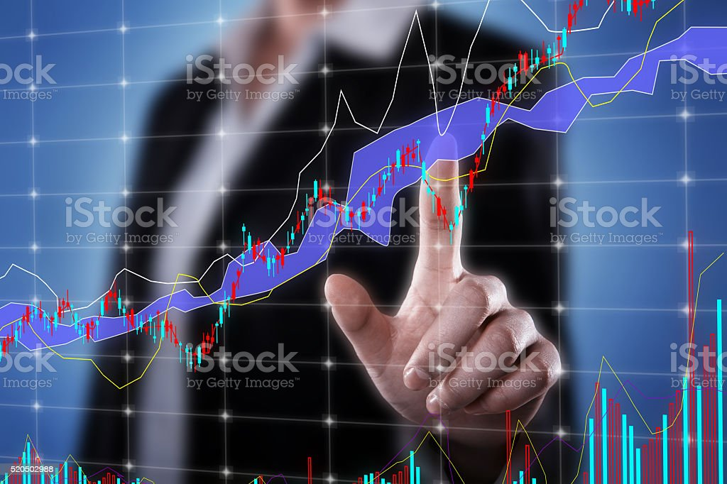 Global Business Finance Concept stock photo