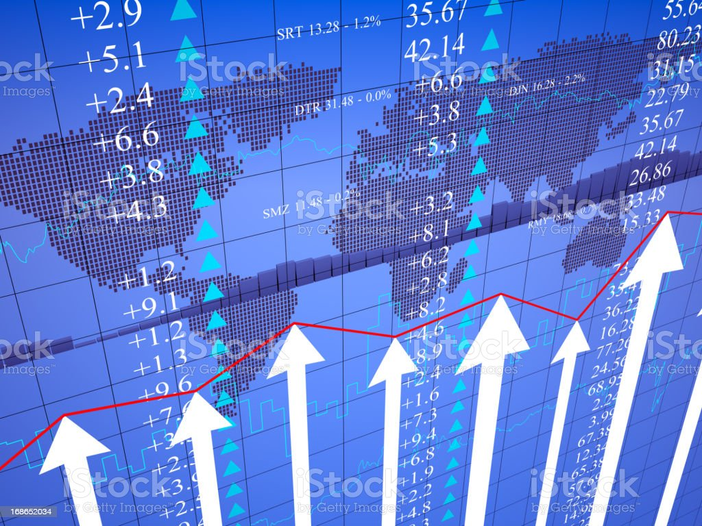 Global Business Financial graph chart royalty-free stock photo