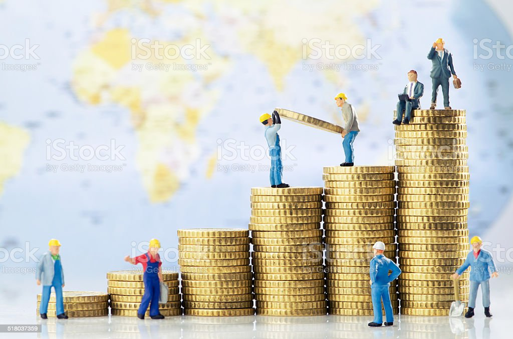 Global business growth stock photo