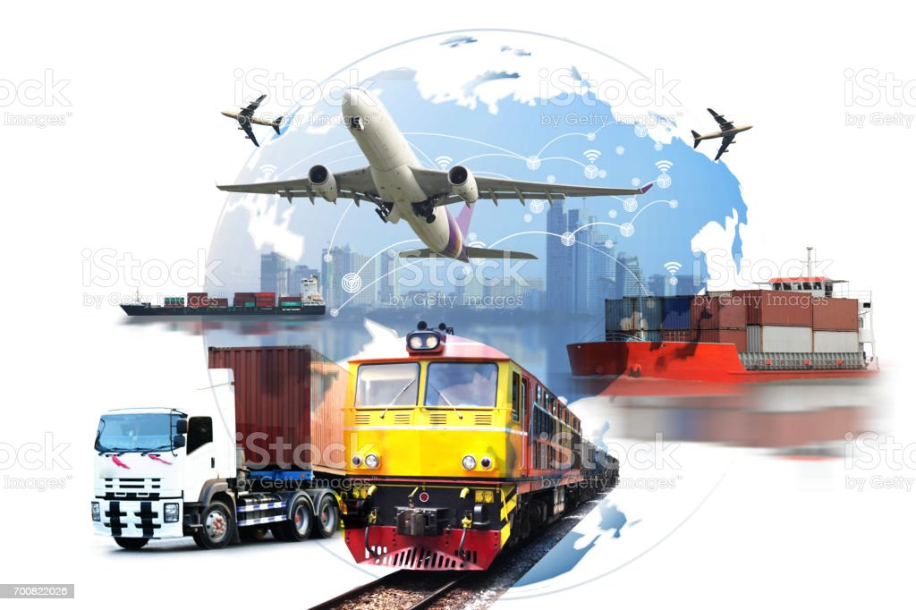 Global business  logistic import export stock photo
