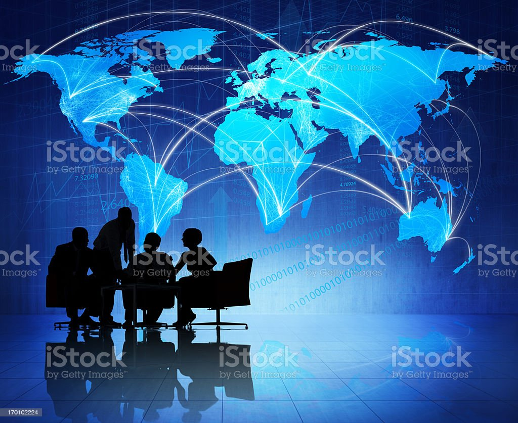 Global business meeting royalty-free stock photo