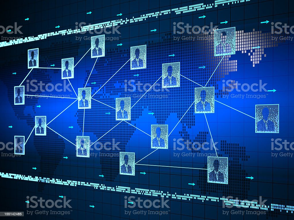 Global business network royalty-free stock photo