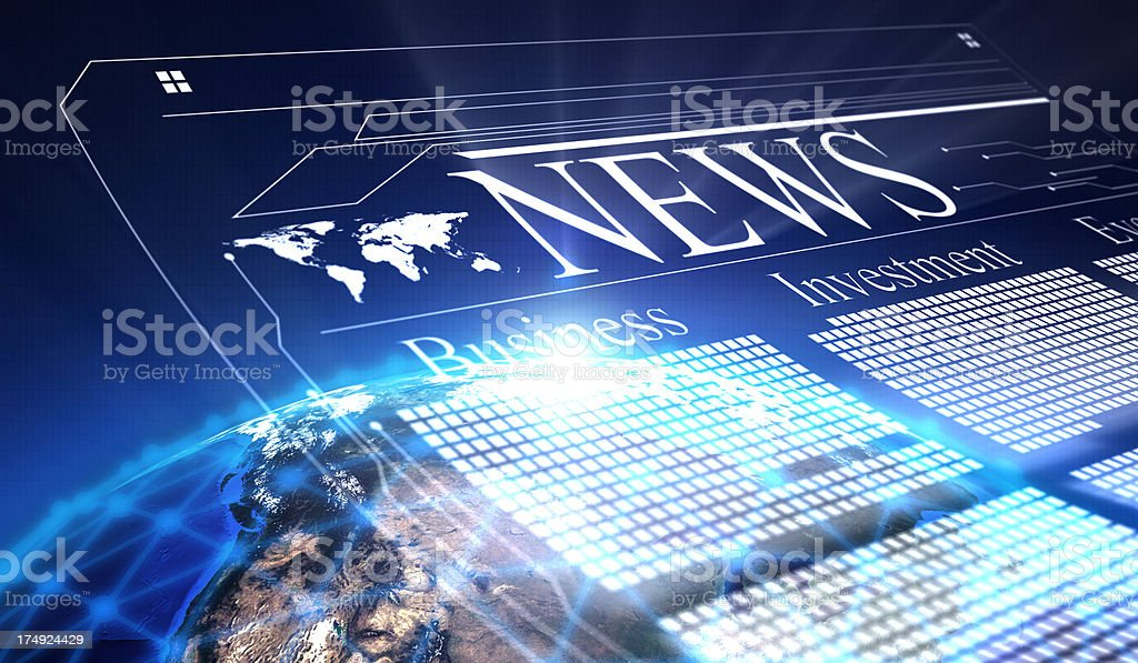 Global business news royalty-free stock photo