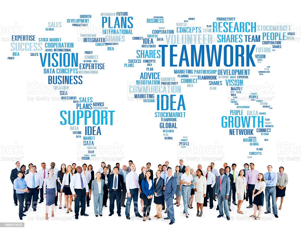 Global Business People Togetherness Support Teamwork Concept stock photo