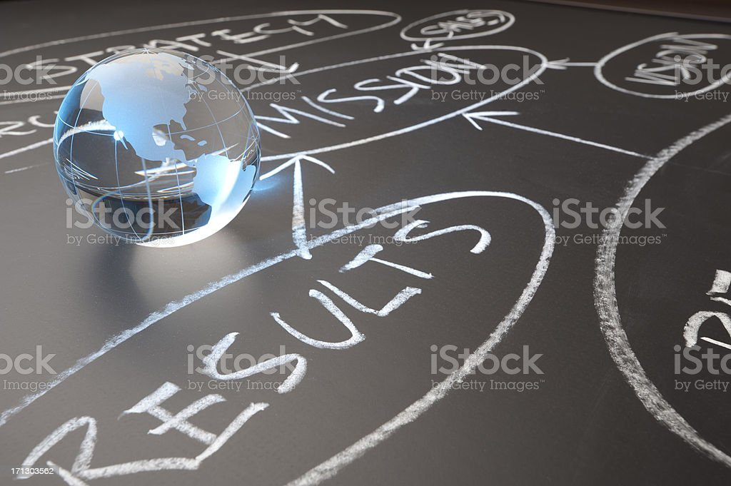Global business results concept royalty-free stock photo