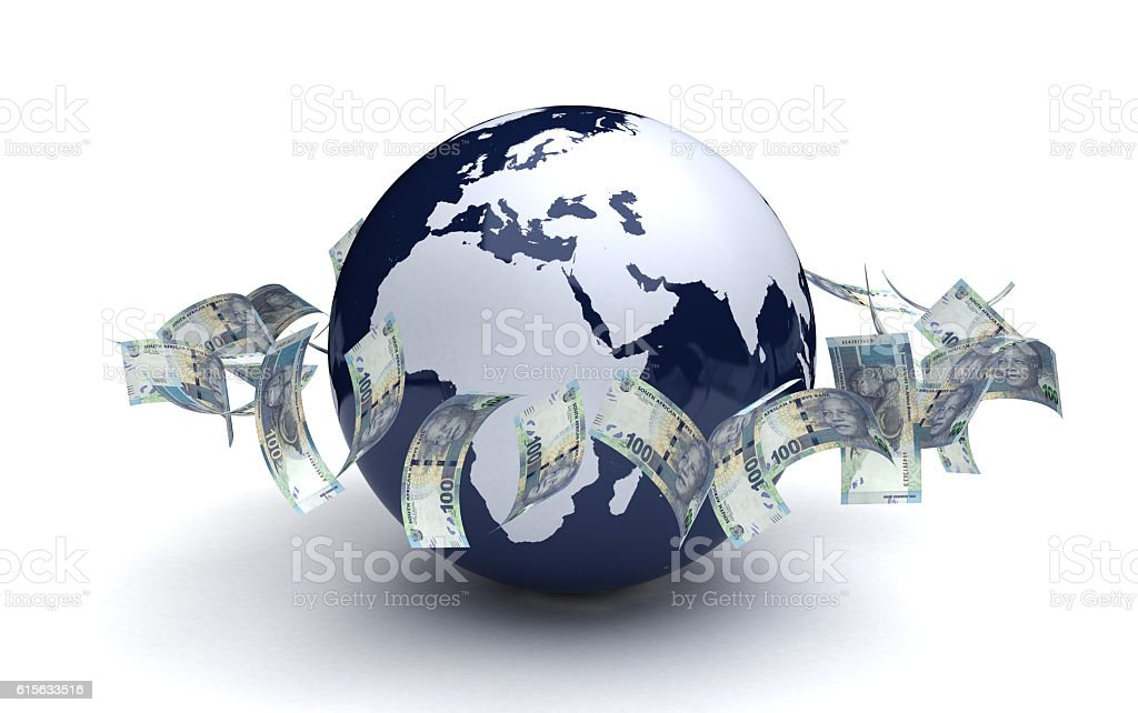 Global Business South African Rand Currency stock photo