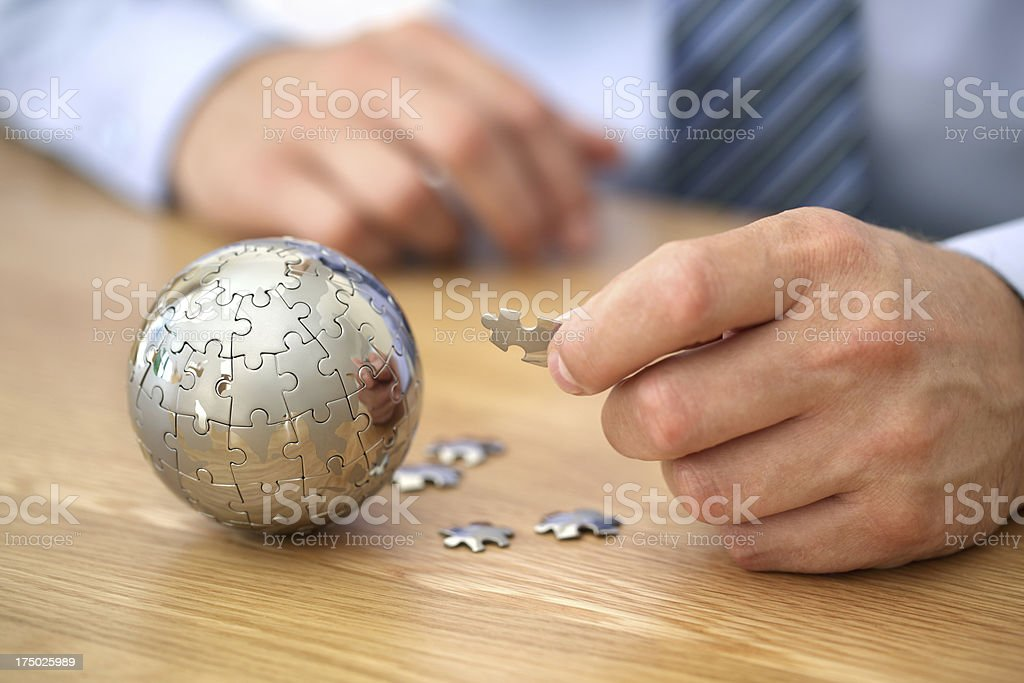 Global business strategy royalty-free stock photo