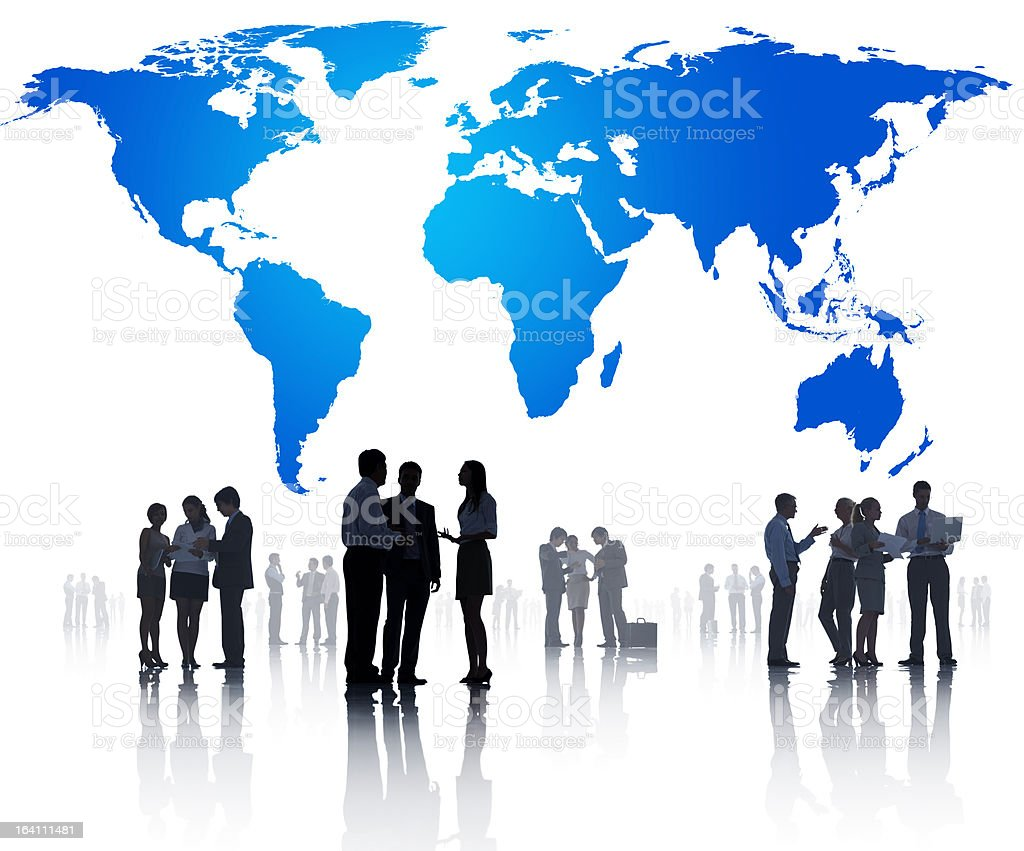 Global Business Working royalty-free stock photo