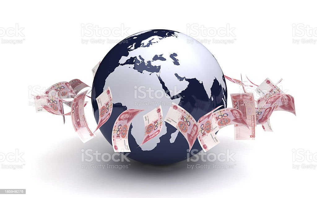 Global Business Yuan Currency stock photo