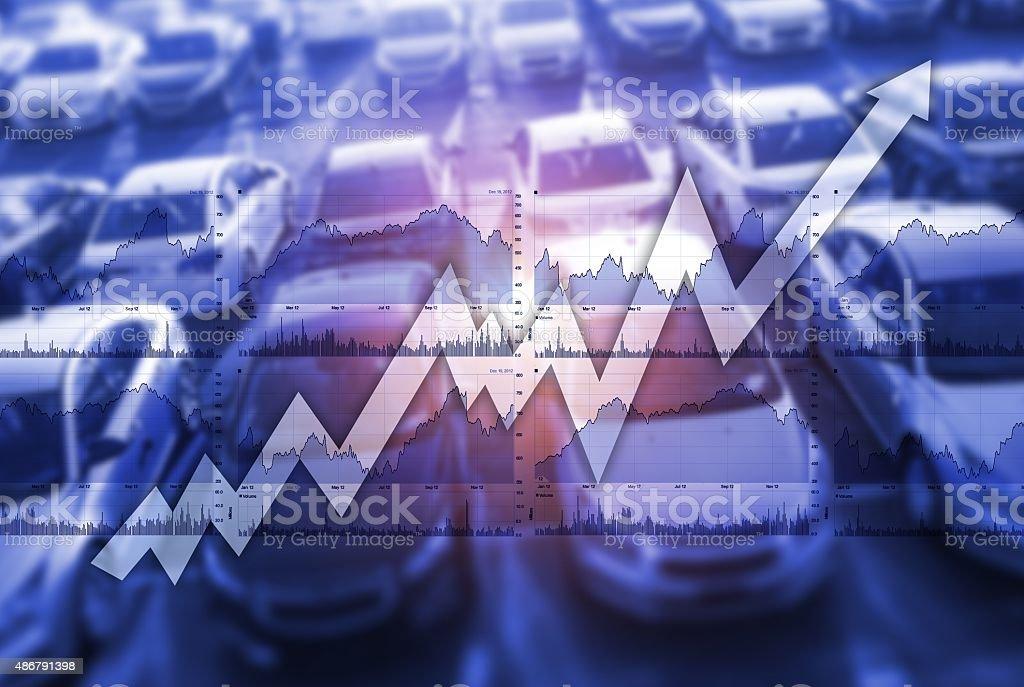 Global Car Sales Market stock photo