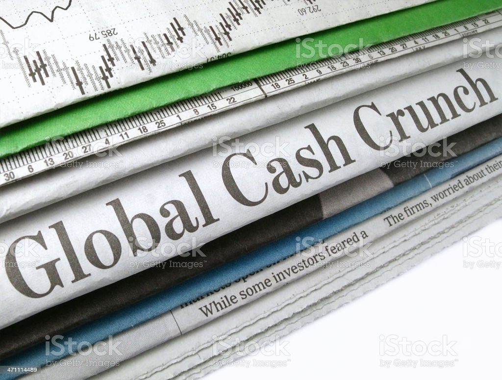 Global Cash Crunch royalty-free stock photo
