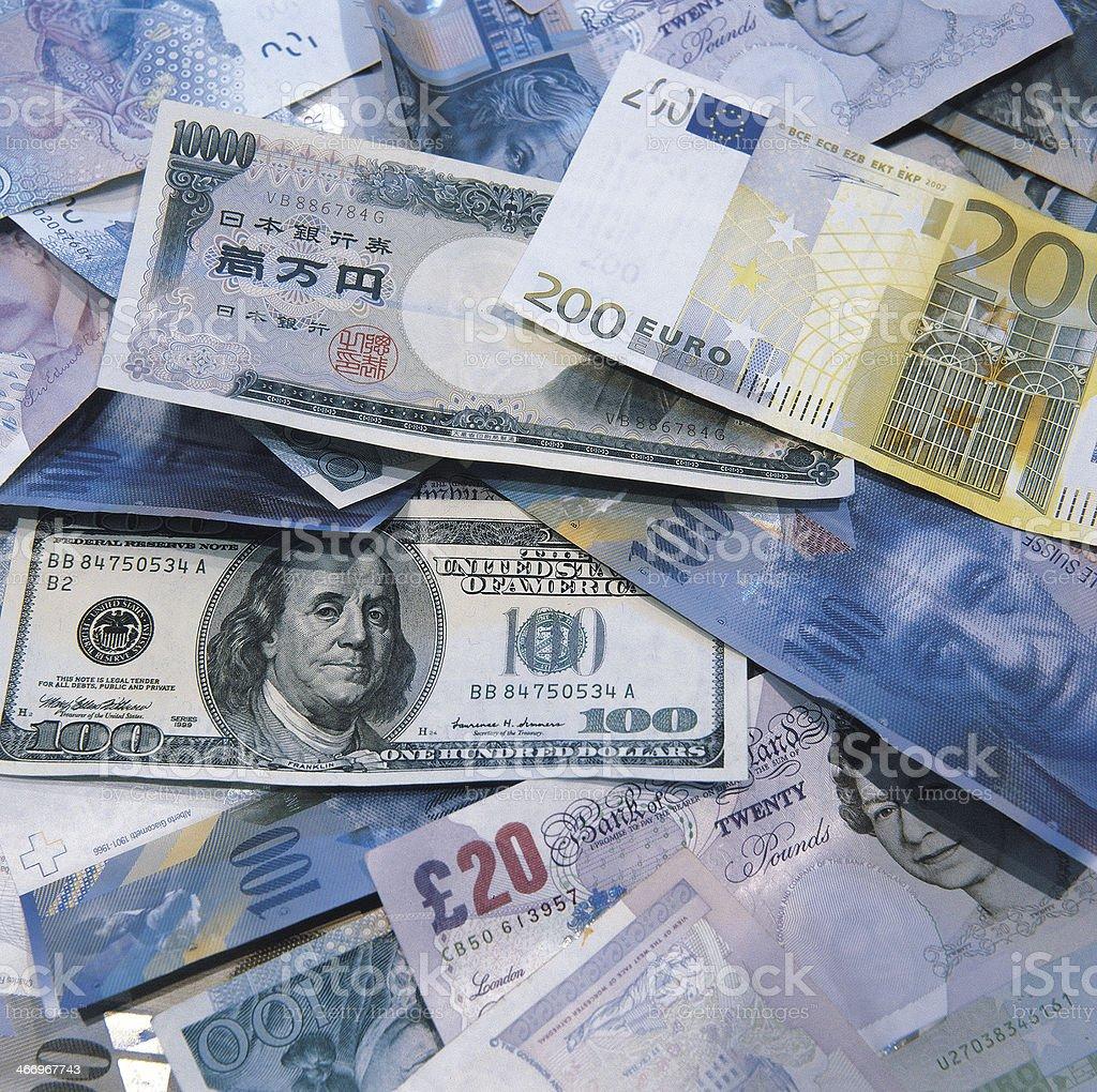 Global Cash royalty-free stock photo