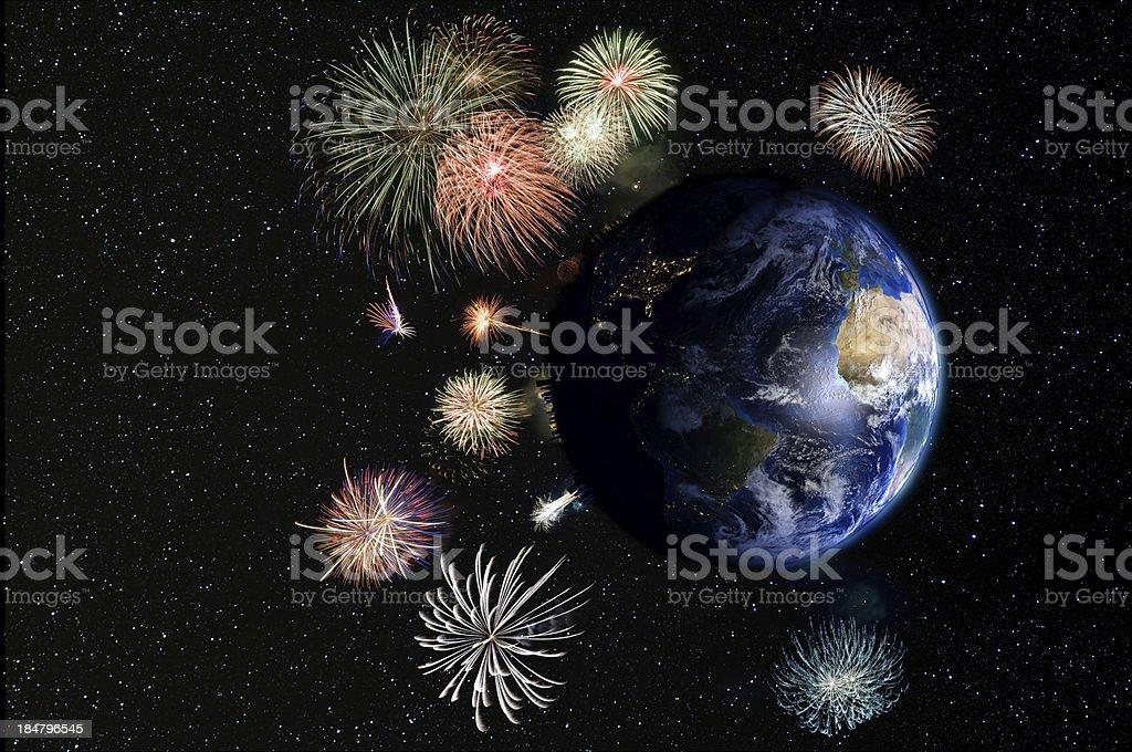 Global celebration. royalty-free stock photo