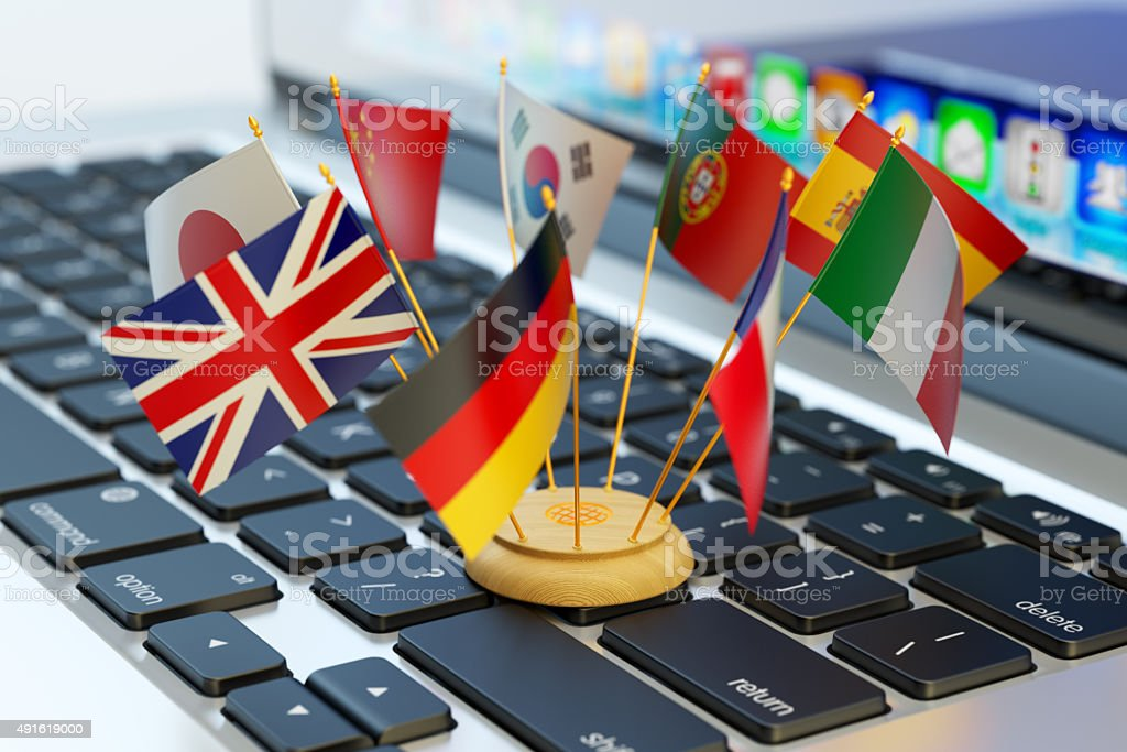 Global communication and business concept stock photo