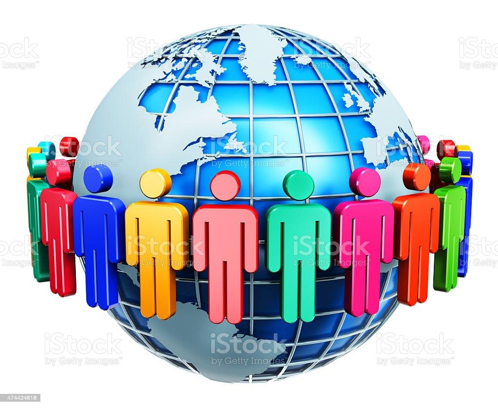 Global communication internet concept stock photo