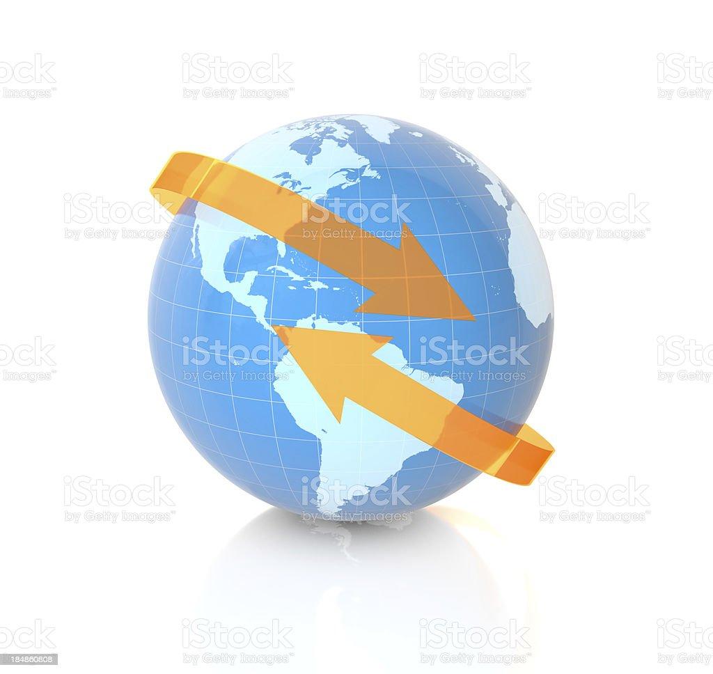 Global Communication royalty-free stock photo