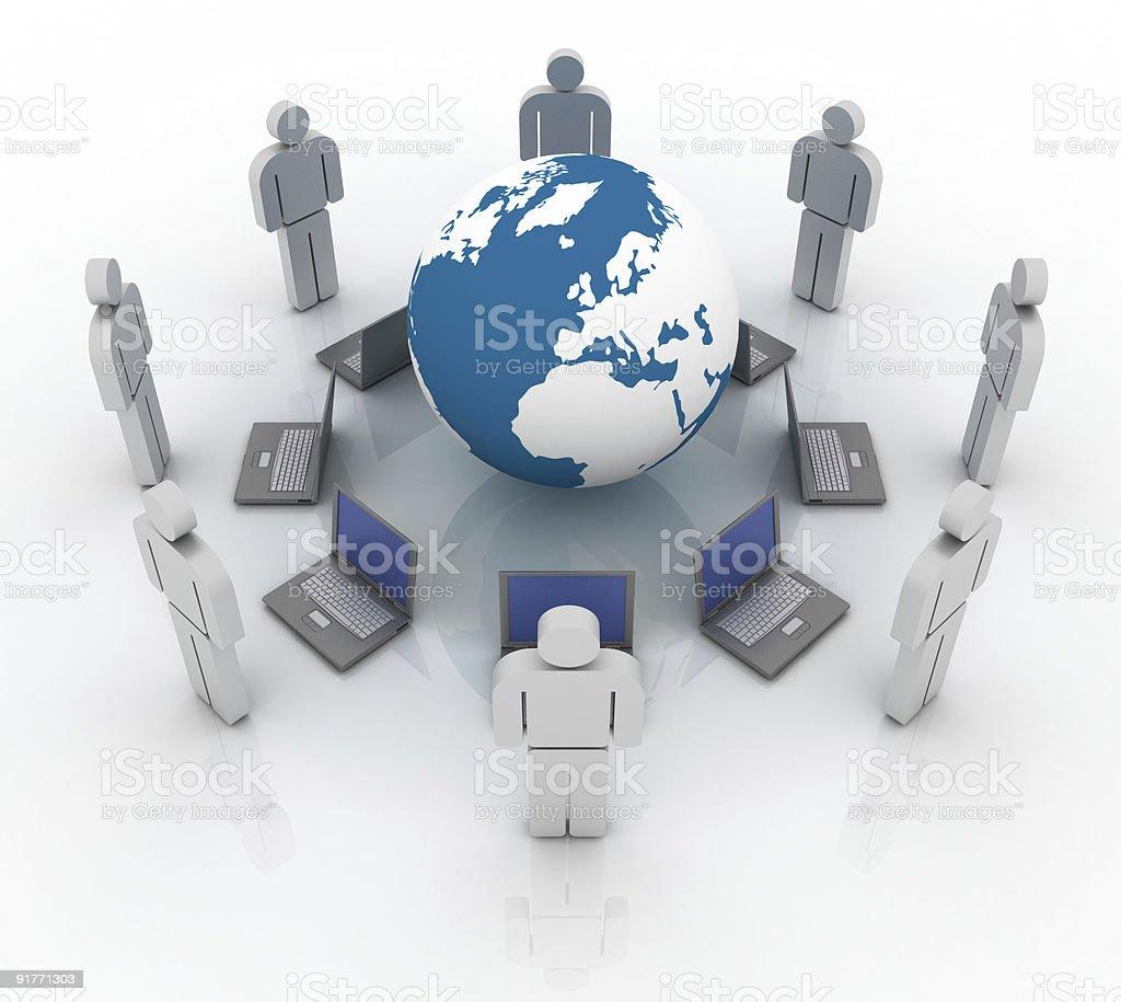 Global communication (isolated on white) royalty-free stock photo