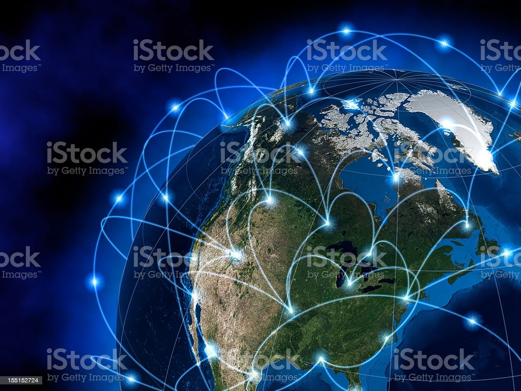 Global communications, America royalty-free stock vector art