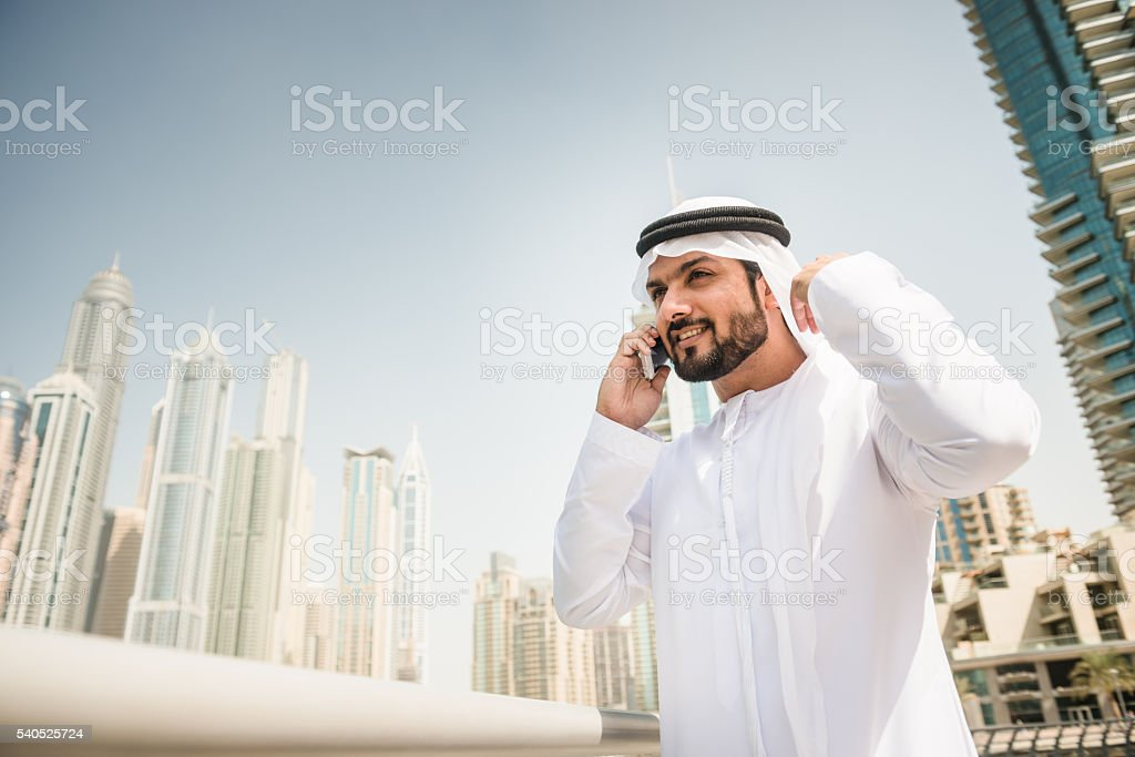 global communications in the arabic country stock photo