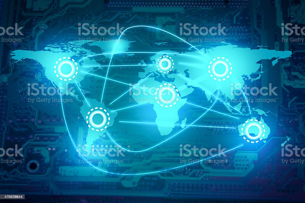 Global Communications -Network - Internet - Technology - Social Media stock photo