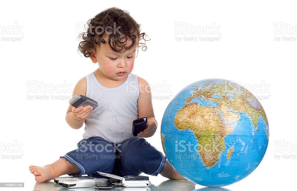 Global communications. royalty-free stock photo