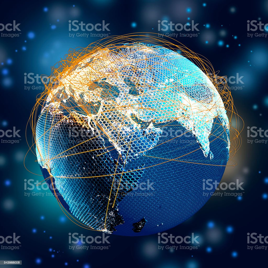 Global Communications stock photo