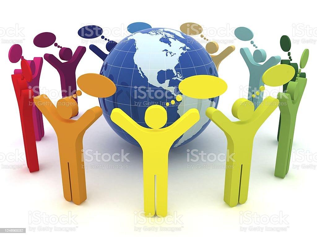 Global Community royalty-free stock photo