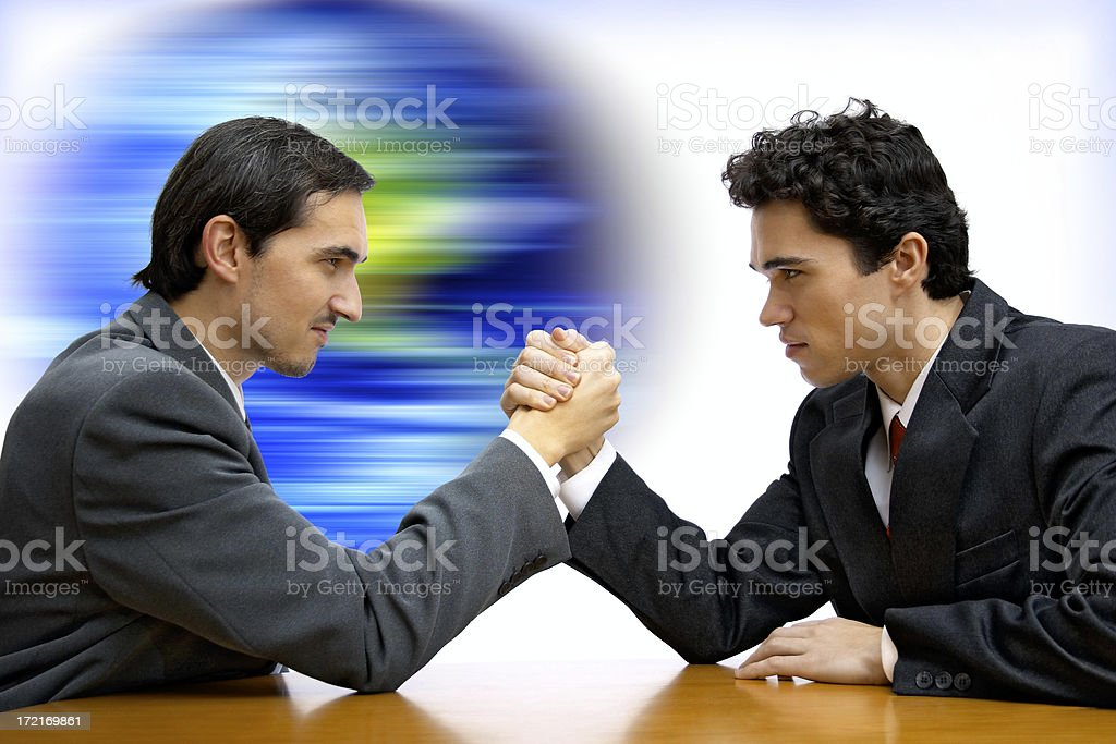 Global competition stock photo