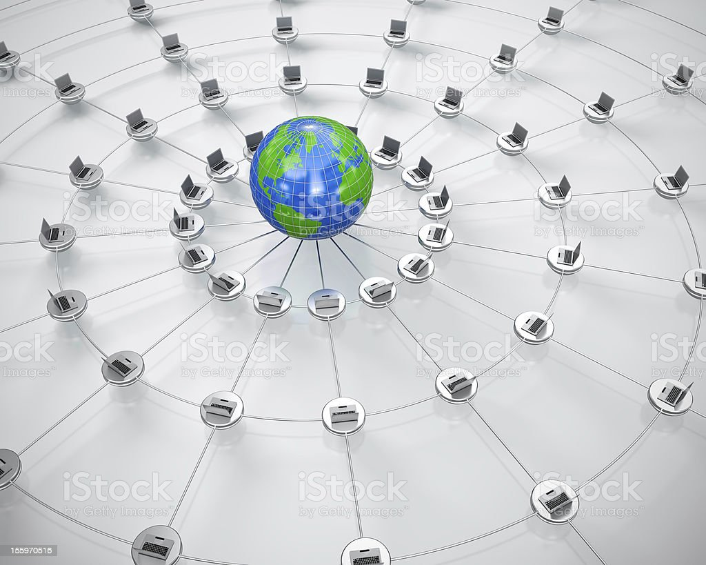 Global computer network royalty-free stock photo