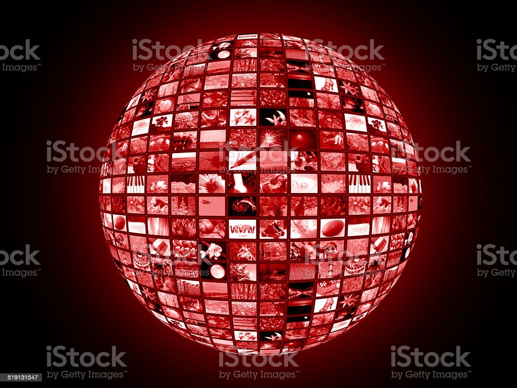 global connecting stock photo