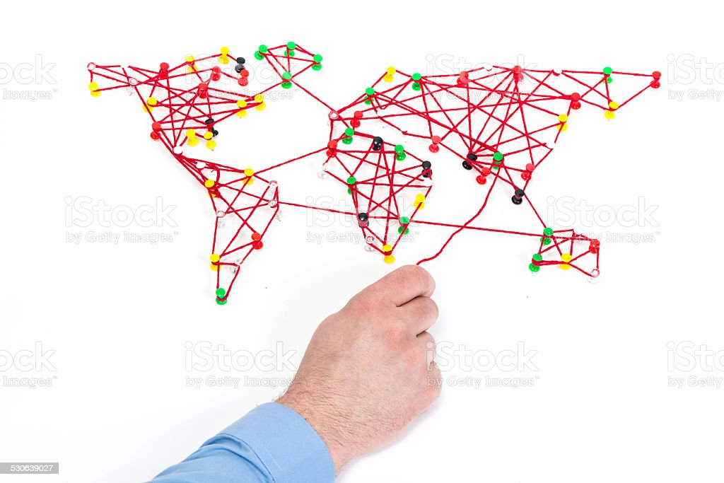 global connection or logistics concept stock photo