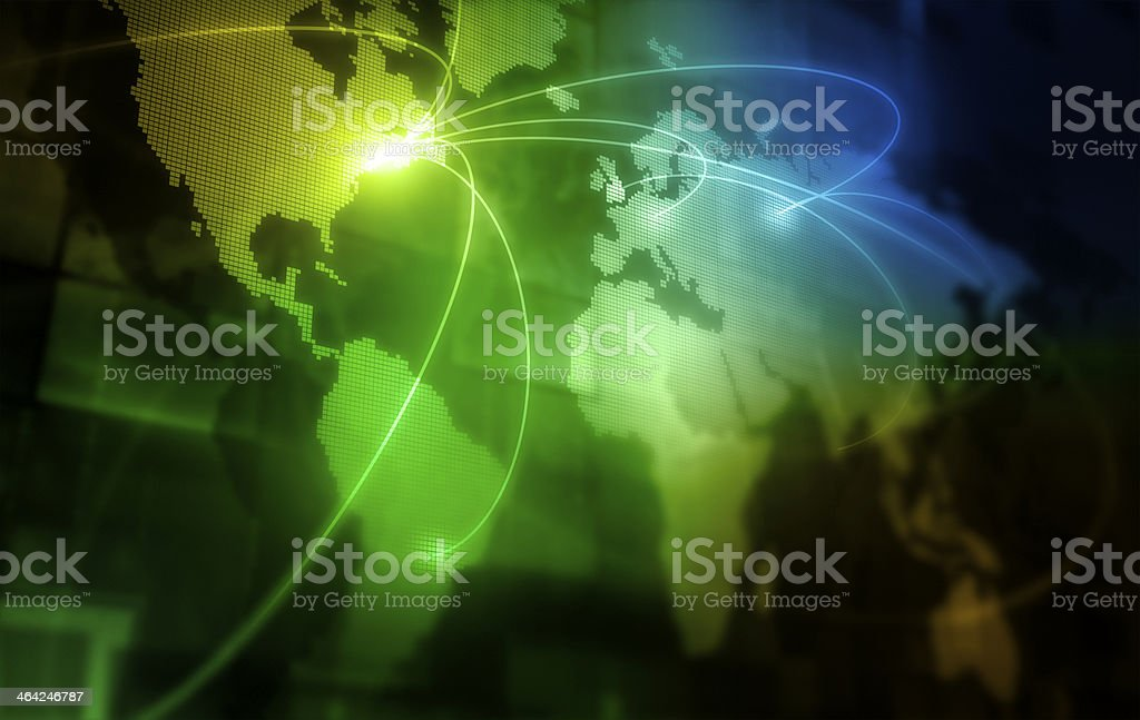 global connection stock photo