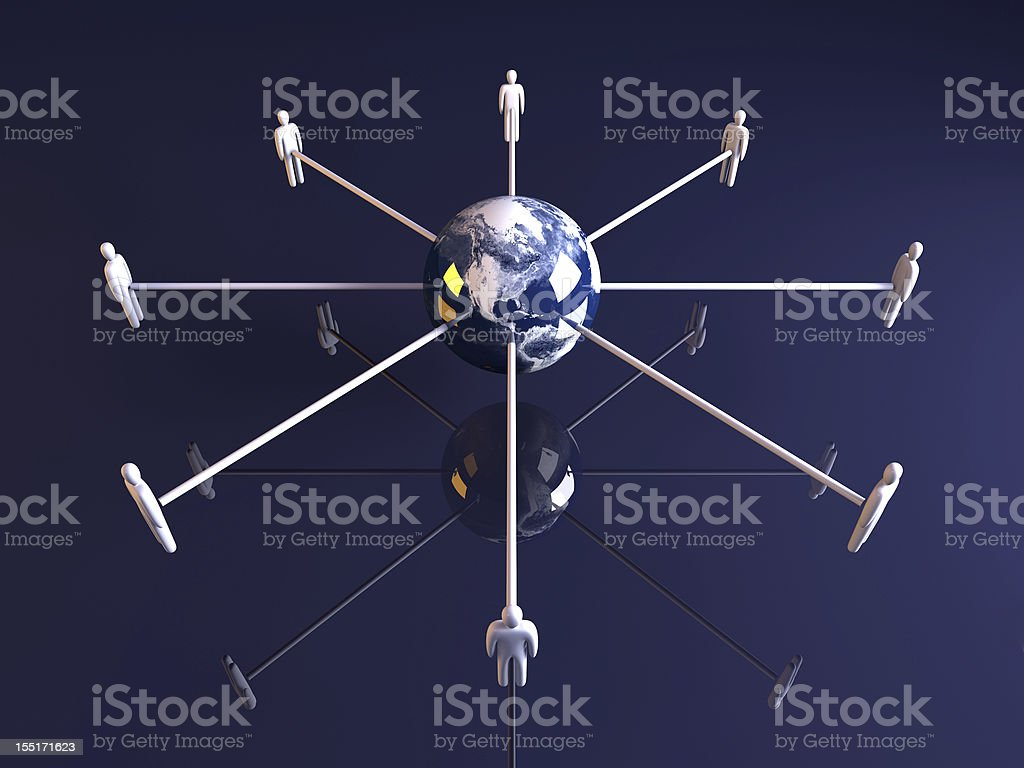 Global connections - America royalty-free stock photo