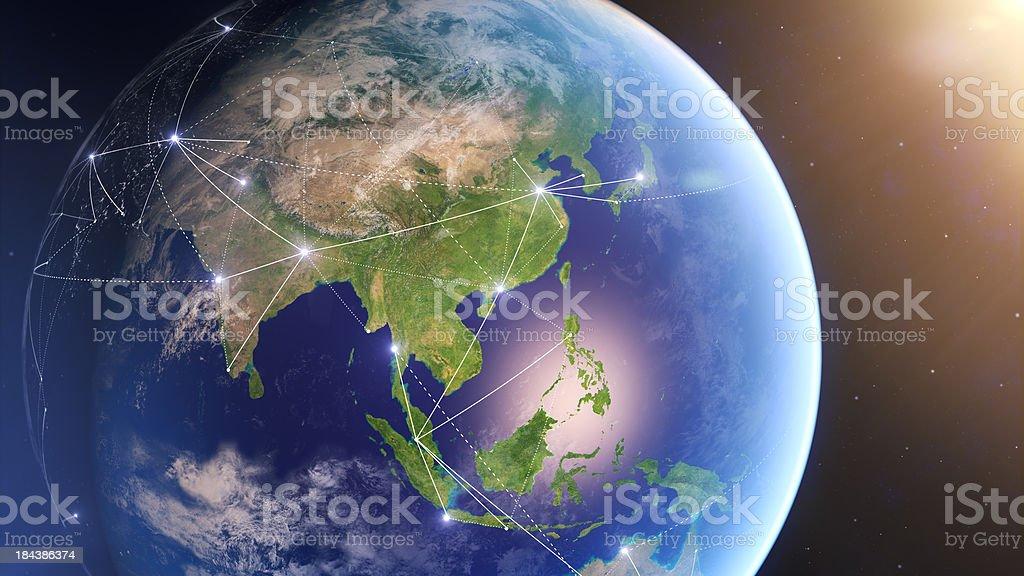 Conexões globais China foto royalty-free