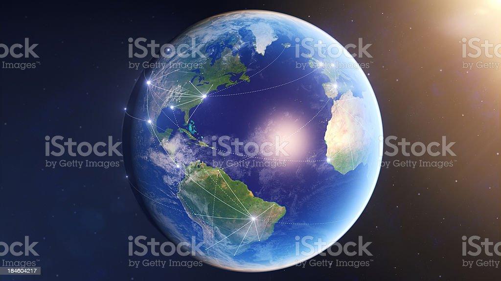Conexões globais EUA foto royalty-free