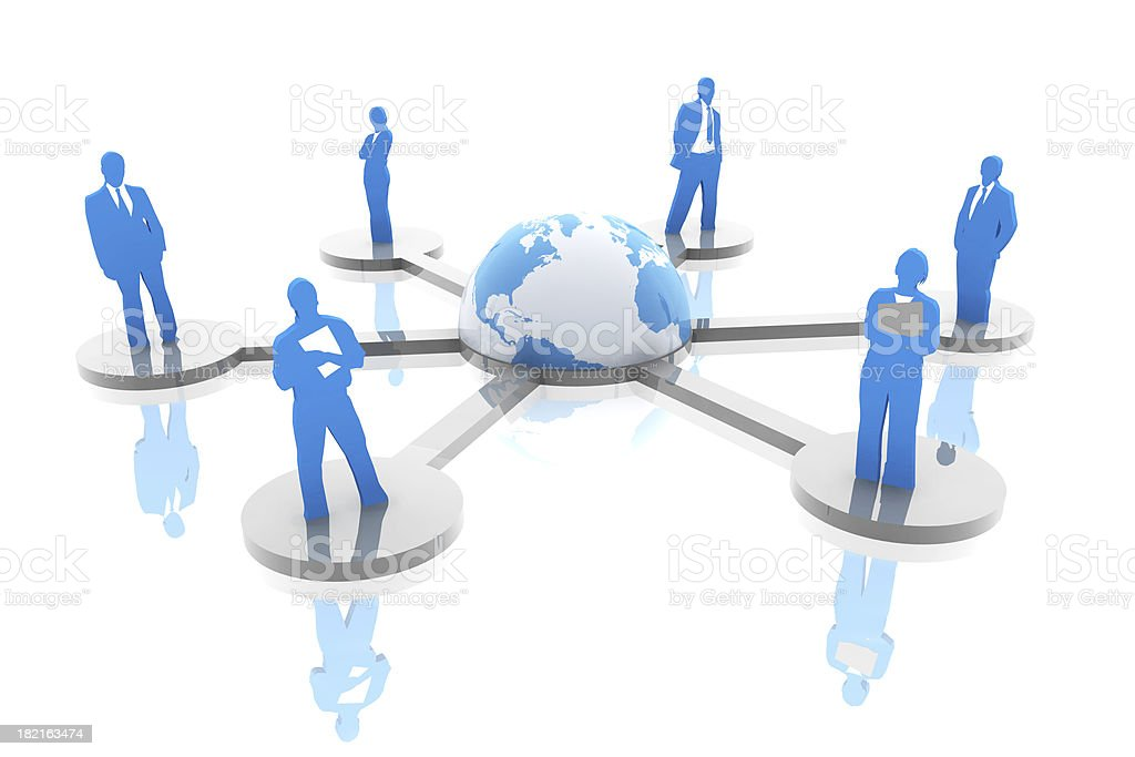 Global connectivity network stock photo