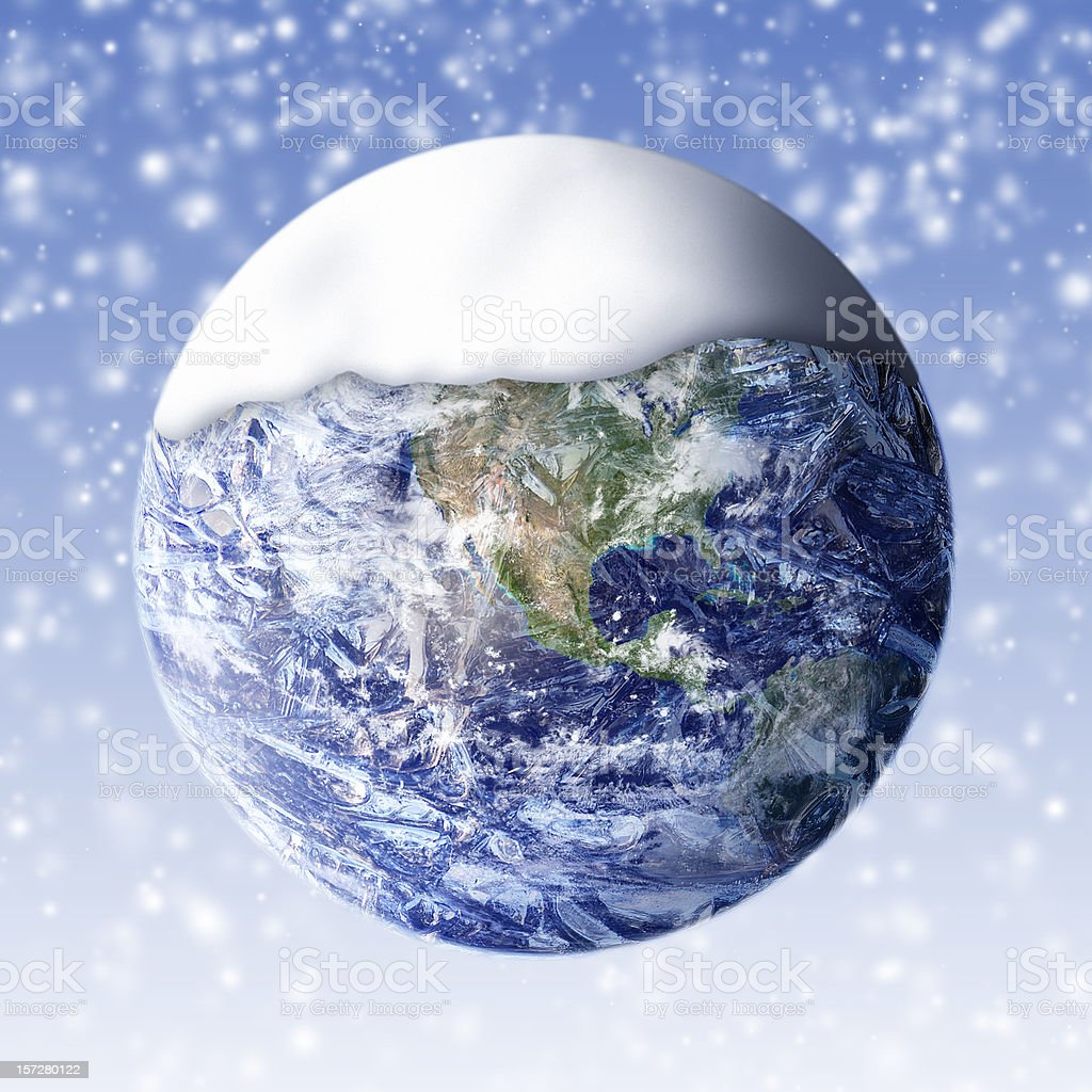 Global cooling - West stock photo