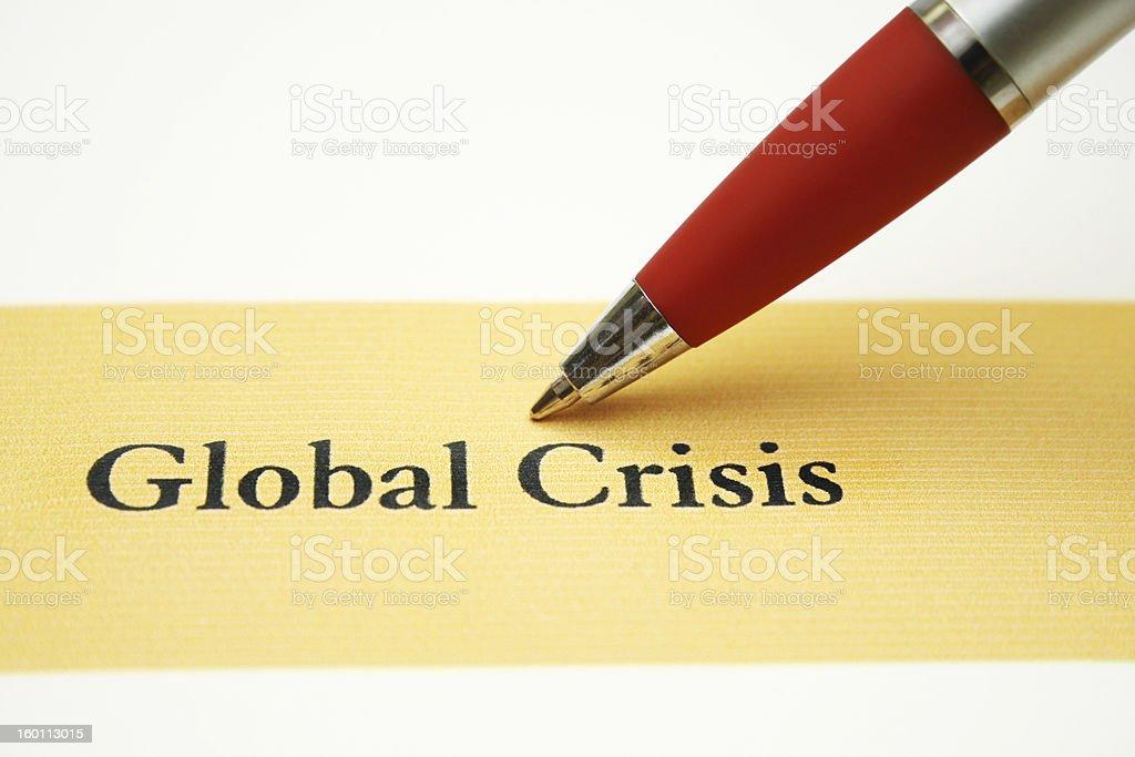 Global crisis royalty-free stock photo
