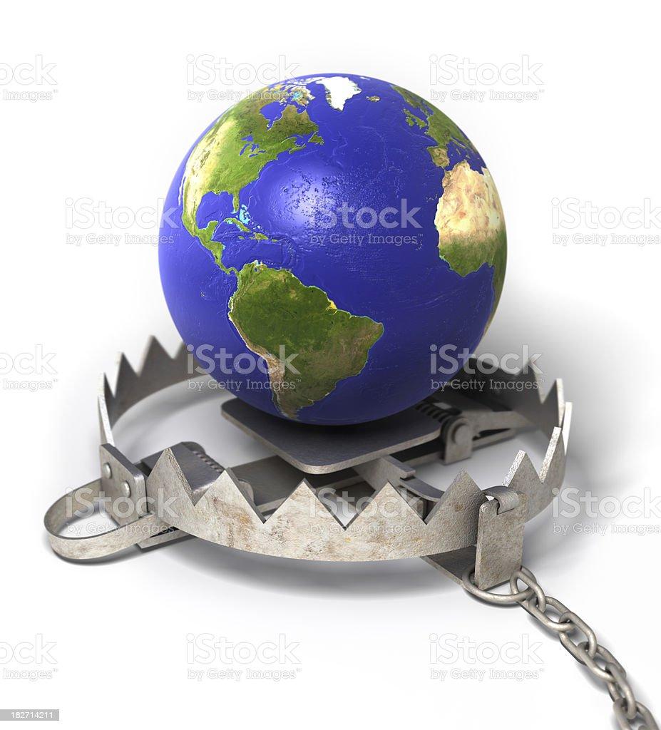 Global danger stock photo