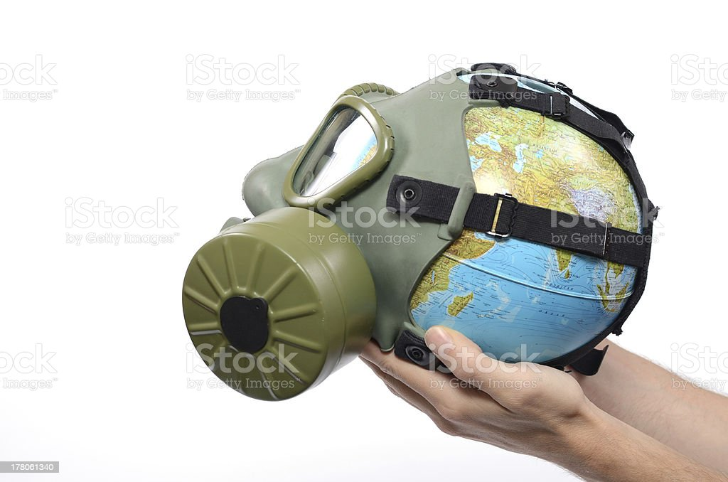 Global Earth pollution royalty-free stock photo