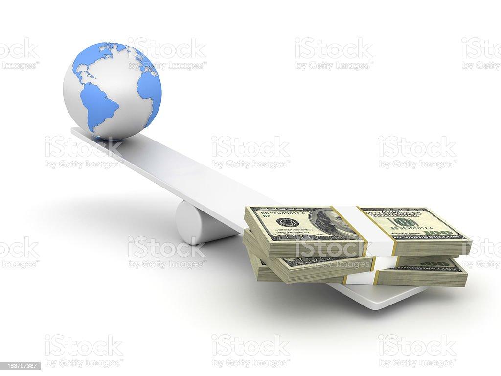 Global Economy Balance royalty-free stock photo
