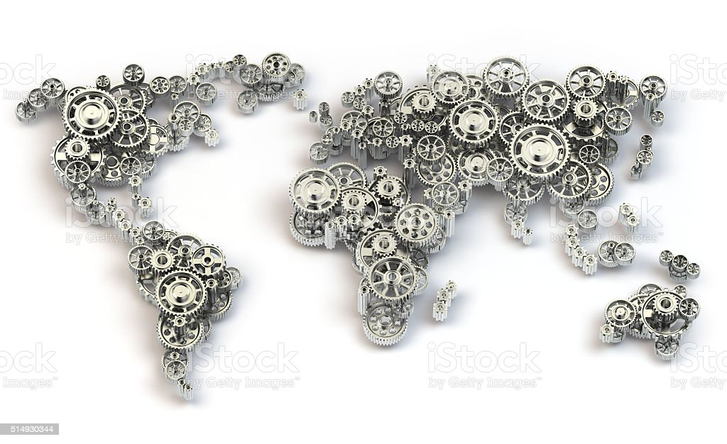 Global economy connections and international  business concept. stock photo