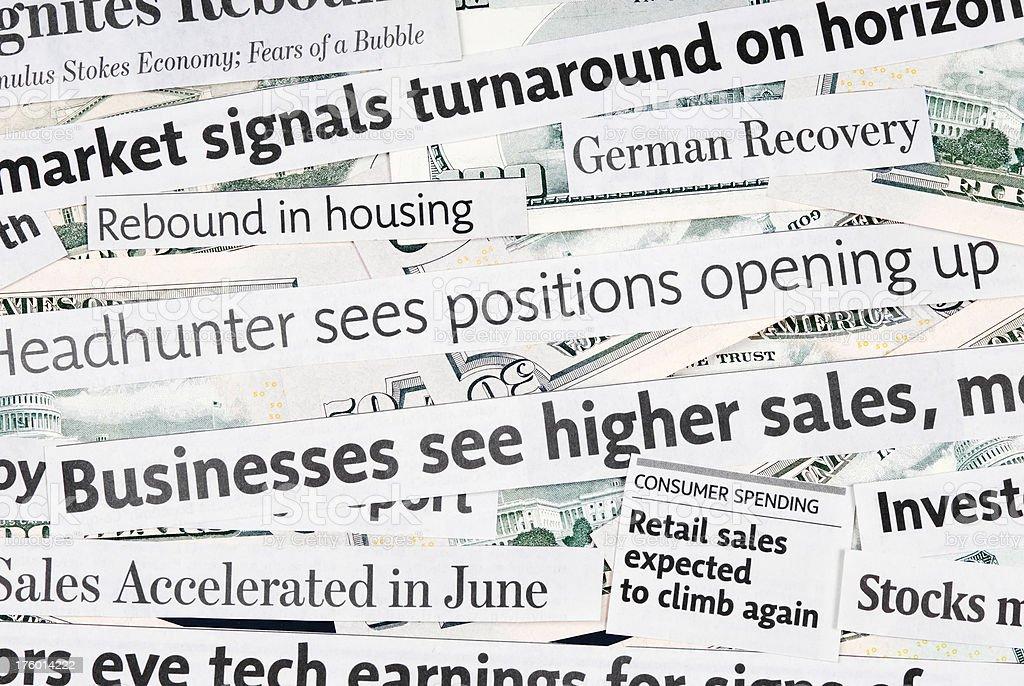 Global economy recovery news - III royalty-free stock photo
