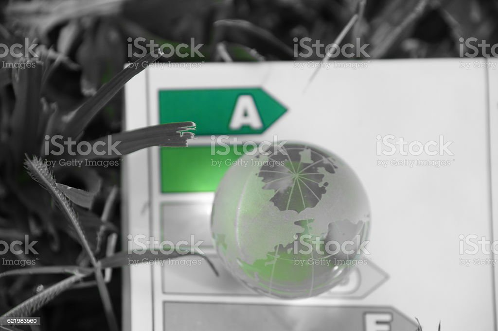 Global energy savings stock photo