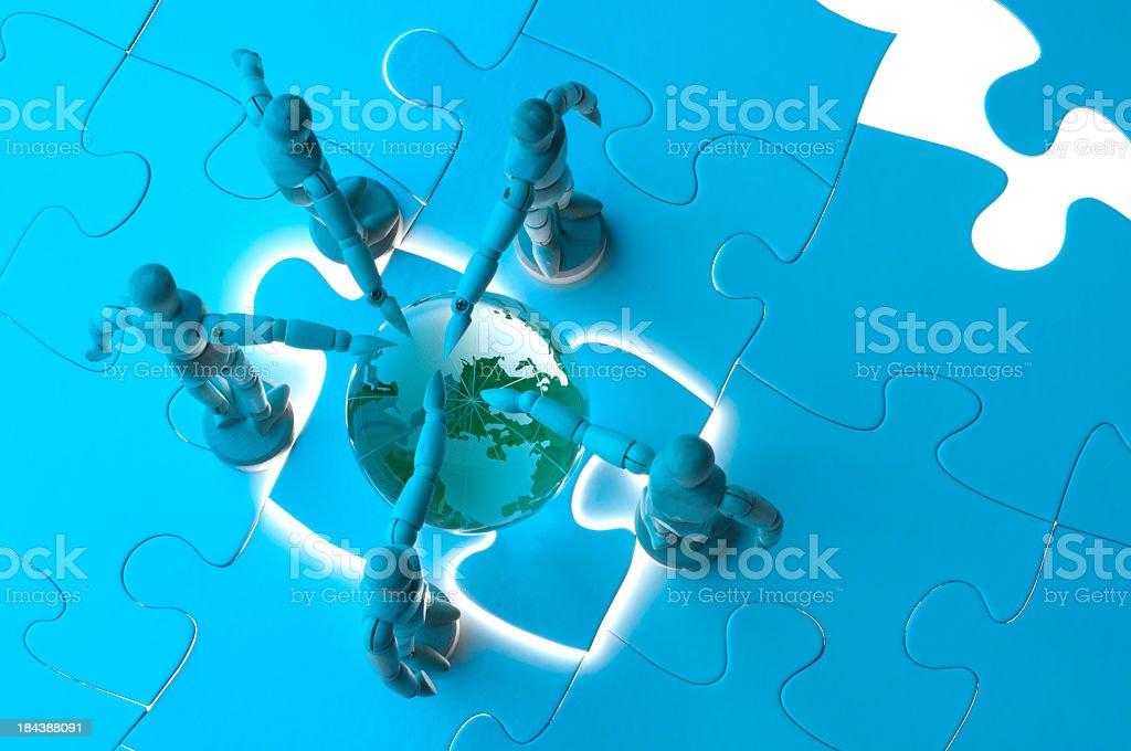 Global environment  teamwork concept royalty-free stock photo