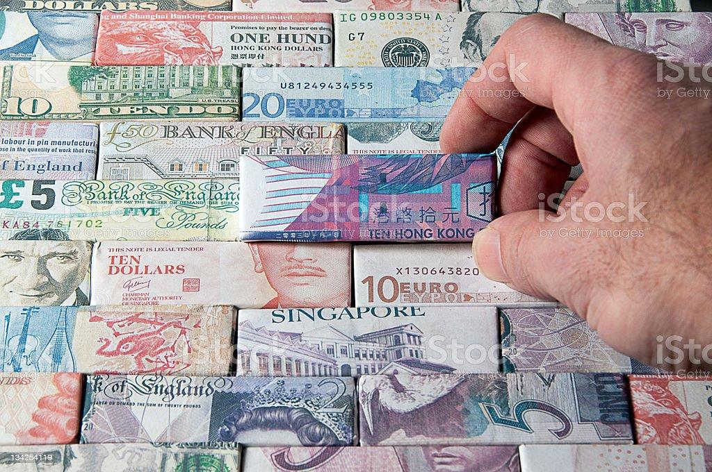 Global Finance and Banking (Hong Kong Dollars) stock photo