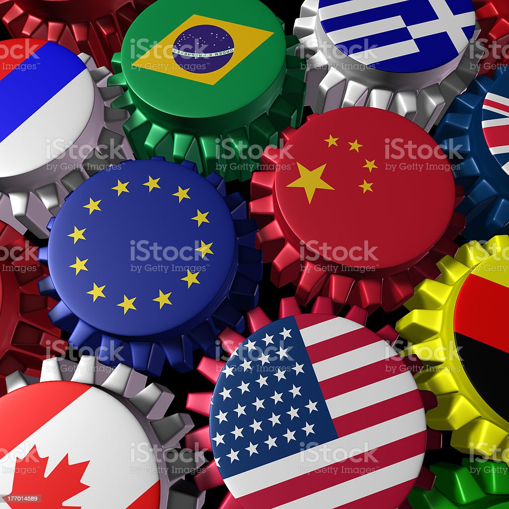 Global finance and trade stock photo